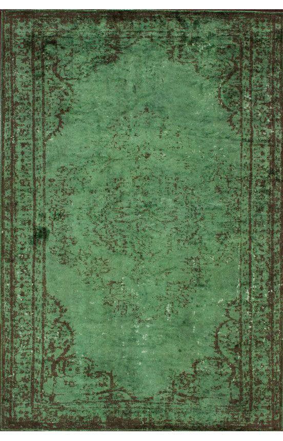 Rugs USA Reclaimed Vintage Havva Overdye Green Rug