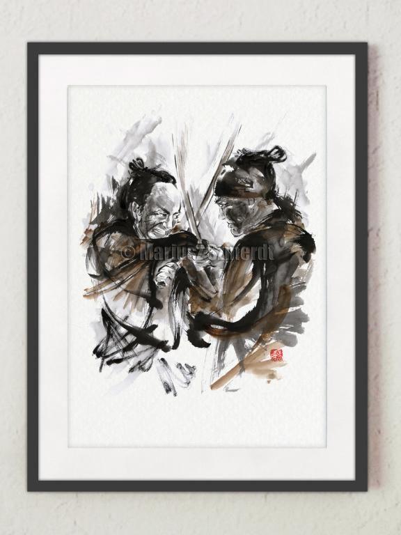 Samuraje japonia sztuka samuraj  plakat A5  #obrazy #miecze_samurajskie #plakaty