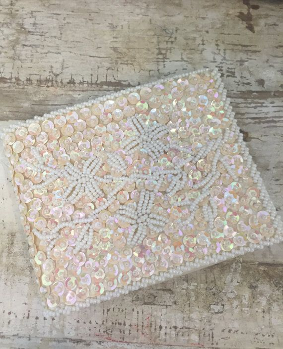 Vintage Beaded and Sequin Wallet Handmade Coin by BirchEdenVintage