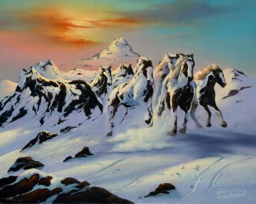 * Jim Warren - - - Horses in the snow