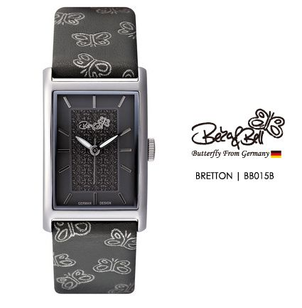 BRETTON BB015B   | Meterail:316L Stainless Steel  | Movement: MIYOTA 2035  | Case Size: 22mm×35mm  | Band Size: 184mm  | Band: Butterfly Engraved Genuine Leather  | Glass: Hardened Mineral Crystal  | Water Resistance : 3 ATM