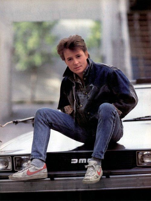michael j. fox in back to the future, 1980s. perfect in every way tbh