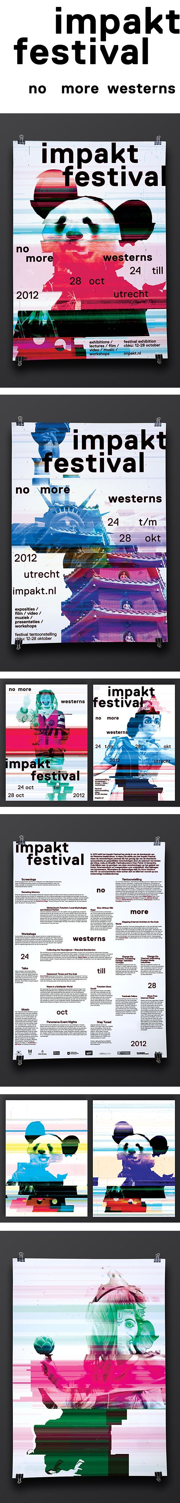 Corporate Design, ID, Logo, Poster, Print, Impakt Festival 2012, by Lava Graphic Design, Amsterdam, NL - @Lava