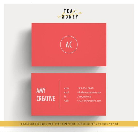 Red Business Card Simple Calling Card Template Premade Name Etsy In 2021 Red Business Cards Calling Card Template Business Card Dimensions