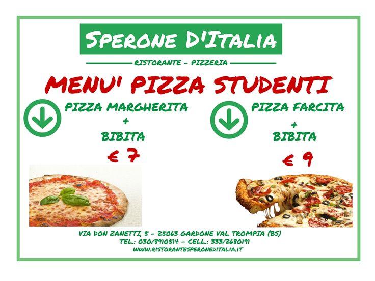 Cari studenti abbiamo pensato anche ad un menù apposta per voi!!!! Veniteci a trovare!!!! Apettiamo voi e i vostri amici......