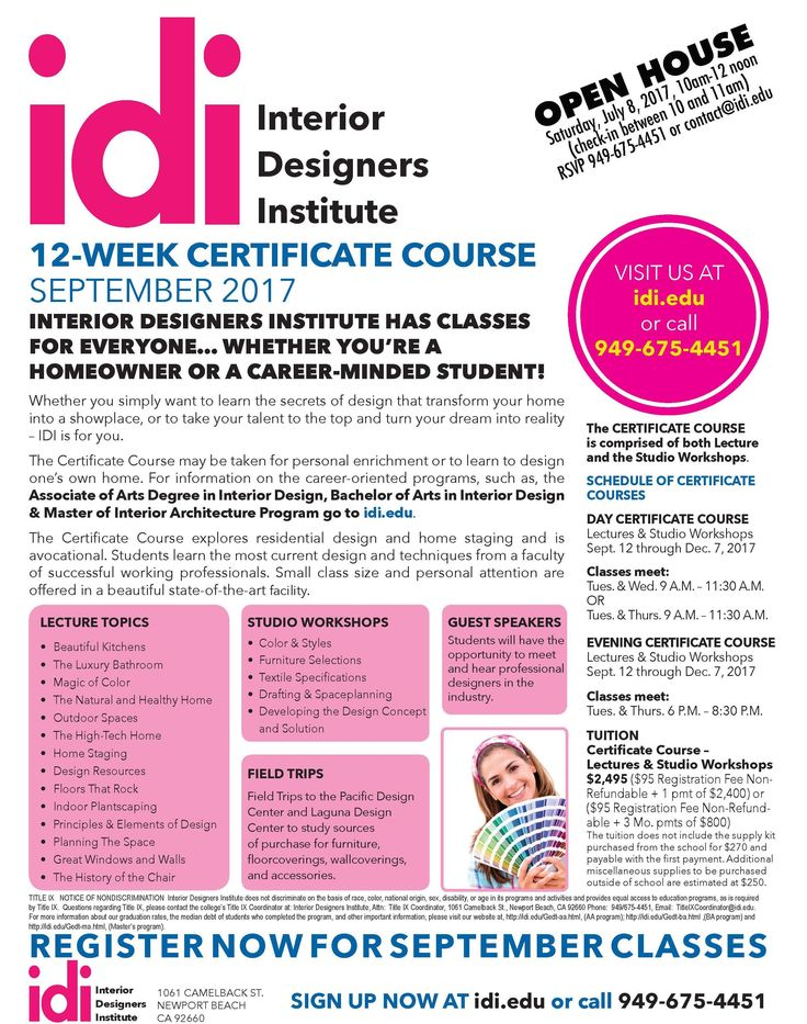 Now Registering For Fall Edu Take Your Flair Interior Design To The Next Level