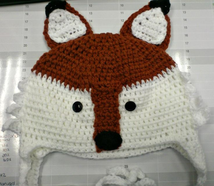Mr Fox is finally done! #yay #crochet #Fox #hat pattern by @RepeatCrafterMe #NiftyNadi #etsyshop