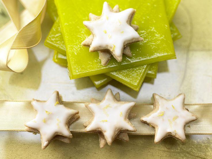 Zitronensterne mit Quittengelee | Kalorien: 193 Kcal - Zeit: 45 Min. | http://eatsmarter.de/rezepte/zitronensterne