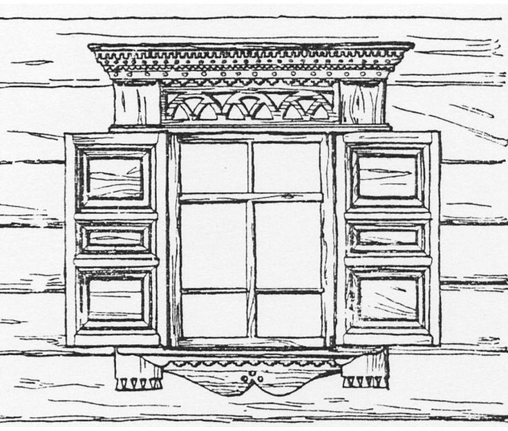 Русские окна картинки карандашом