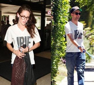 K. Stewart: Εμφανίστηκε φορώντας t-shirt του Pattinson!