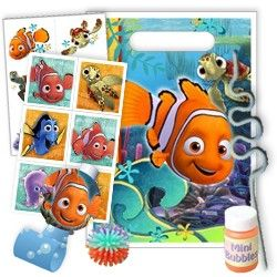 Finding Nemo Favor Packs (For 8 Guests) | Price: $31.99 | http://www.discountpartysupplies.com/girl-party-supplies/finding-nemo-party-supplies/finding-nemo-favor-packs.html