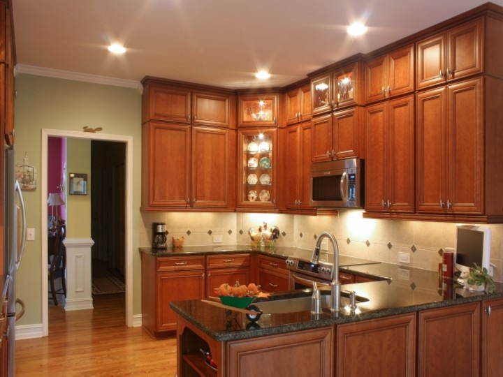Add cabinets above existing cabinets for ceiling height cabinets ...