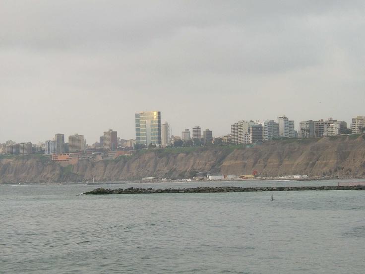 Skyline von Miraflores, dem moderner Stadtteil von Lima der Hauptstadt von Peru.