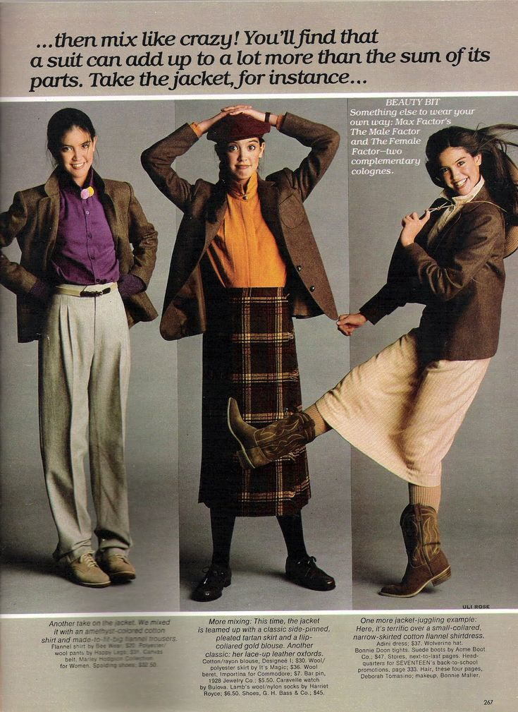 Phoebe Cates Models Autumnal Fashions In Seventeen