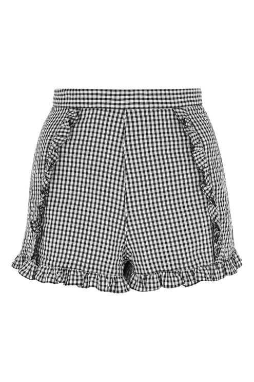 Gingham Crinkle Shorts - New In This Week - New In - Topshop USA