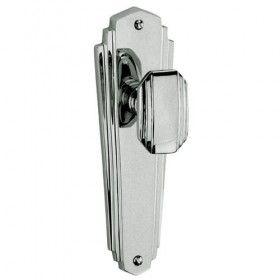 Charlston Range   1930u0027s Art Deco Style Mortice Door Knobs On Backplate    Polished Chrome