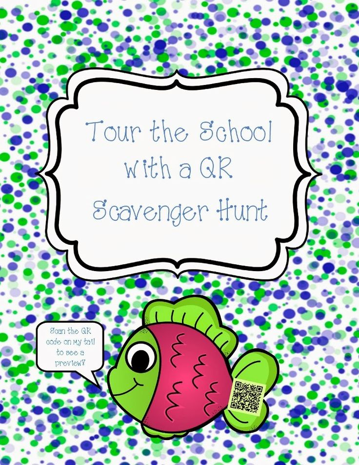 Use an iPad to do this fun game & learn about the places in the school - The New Student School Tour QR Scavenger Hunt.