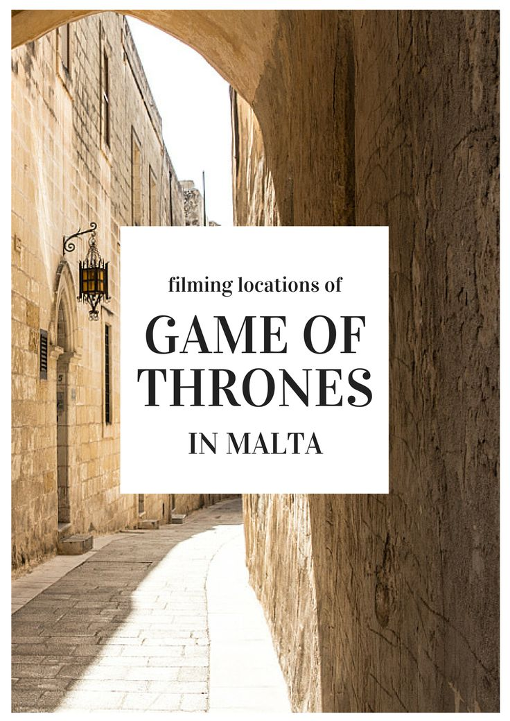 "It's pretty clear why so many Game of Thrones filming locations are on Malta, as Malta feels like a ""real life"" King's Landing."