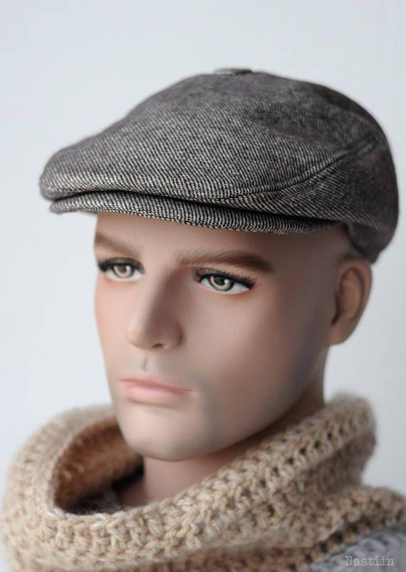 Newspaper boy hat Taupe newsboy hat Womens newsboy cap Mens ... 502d94eb9eb