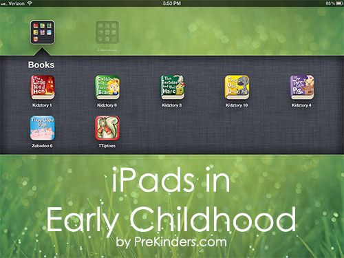 iPads in the Preschool Classroom —  .