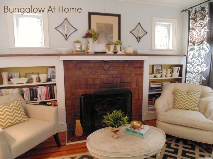 Bungalow at home living room living room inspiration for Bungalow fireplace ideas