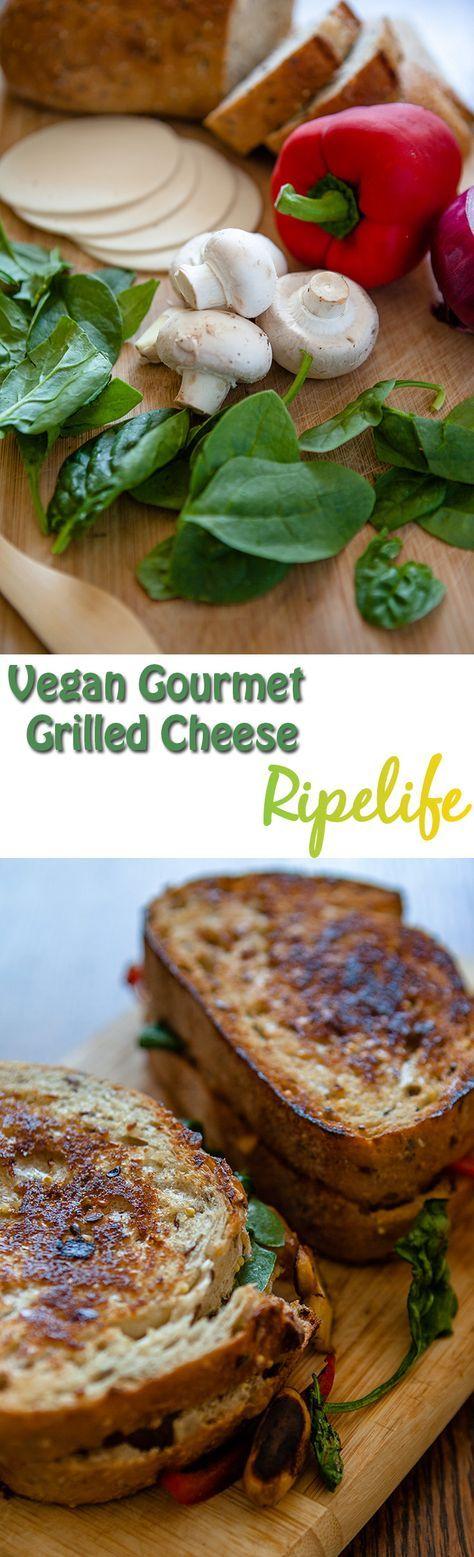Vegan Gourmet Grilled Cheese #Vegan #Grilled #Cheese #Sandwich #Gourmet