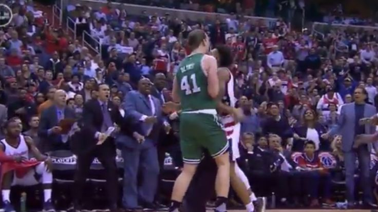 Fight almost happened >>> Oubtre took exception to a screen by Kelly Olynyk