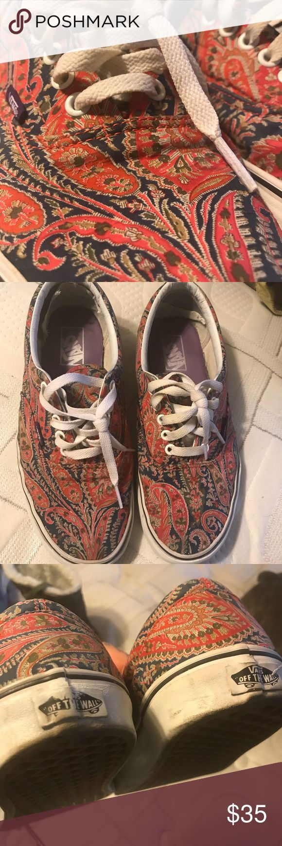 VANS X LIBERTY COLLABORATION circa 2009 Paisley print liberty fabrics and vans colab Circa 2009 Gently loved, great price for the collector Vans Shoes Sneakers