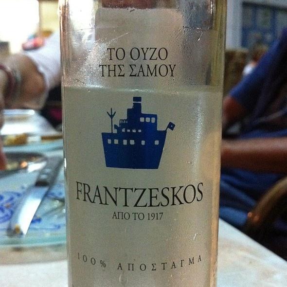 The famous Frantzeskos ouzo of Samos.