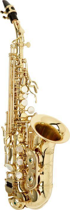 Allora Vienna Series Intermediate Curved Soprano Saxophone Aasc-503 - Lacquer
