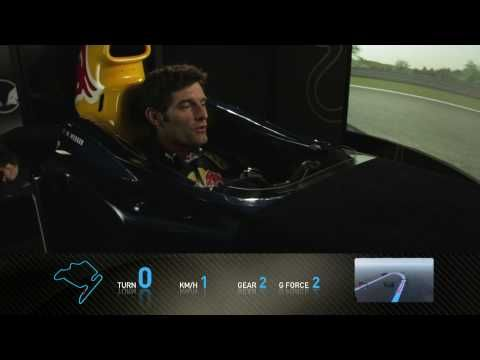 Very cool: A round on Hungaroring in the F1 Track Simulatorwith Mark Webber in Budapest