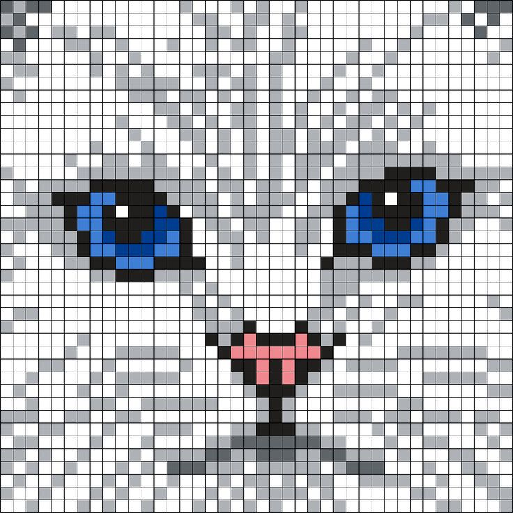 Persian Cat (40 X 40) Perler Bead Pattern by Melissa Pious