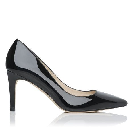 Florete Point Toe Patent Leather Court Shoe