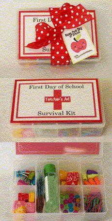 Teacher Gift Idea: 1st Day of School survival kit... I think I