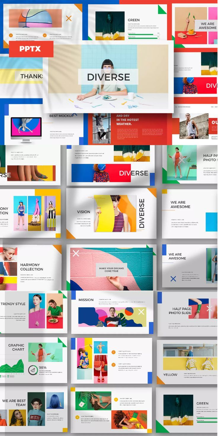 Diverse Powerpoint Template By Dirtylinestudio On Envato Elements Powerpoint Presentation Design Powerpoint Background Design Powerpoint Design Templates