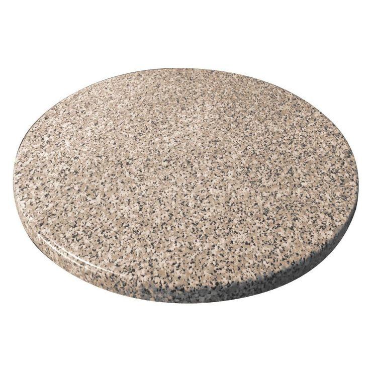 Bolero GG597 Round Table Top, Granite Effect