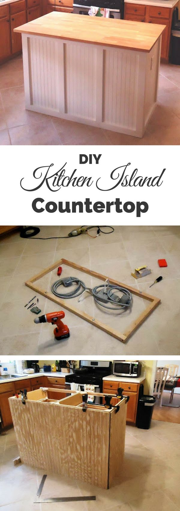 Check out the tutorial on how to build a DIY countertop kitchen island @istandarddesign