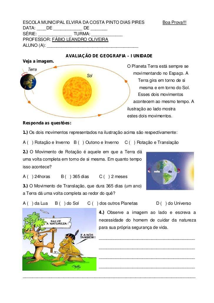 ESCOLA MUNICIPAL ELVIRA DA COSTA PINTO DIAS PIRES                        Boa Prova!!!DATA: ____DE ____________ DE _______S...