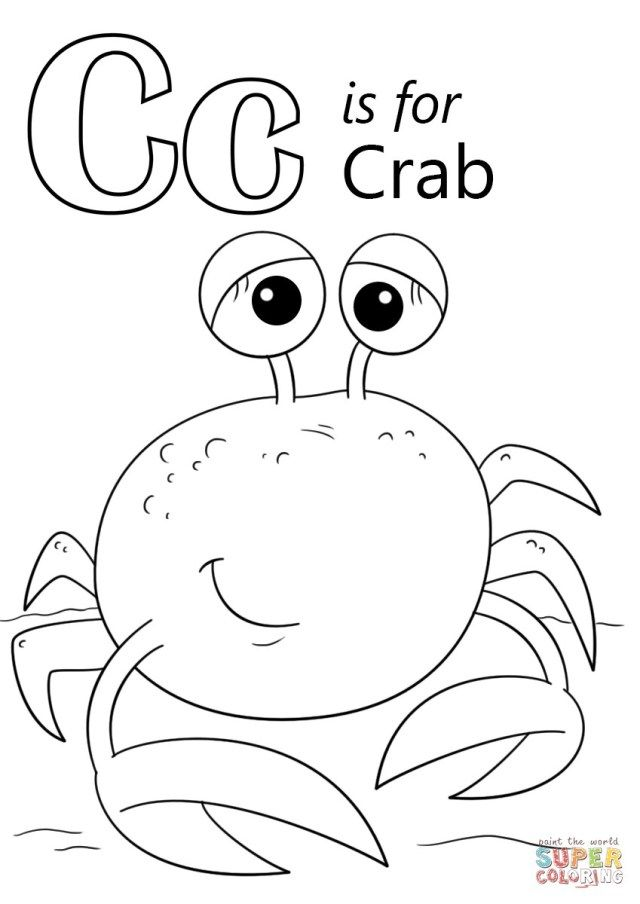 exclusive image of crab coloring pages