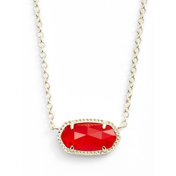 Women's Kendra Scott 'Elisa' Pendant Necklace (3.055 RUB) ❤ liked on Polyvore featuring jewelry, necklaces, ruby red, glitter necklace, pendant necklace, glitter jewelry, kendra scott jewelry and stone necklaces