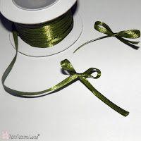 Lucas - Είδη Συσκευασίας: DIY - Κρίκοι για χαρτοπετσέτες από λινάτσα. Λαδί σατέν κορδέλα 3mm
