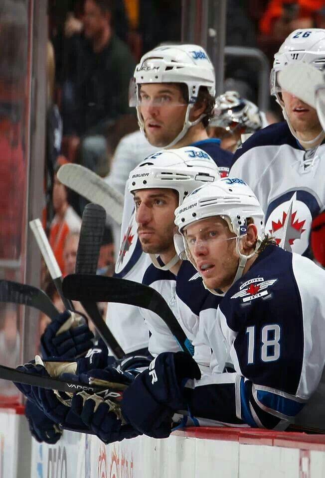 Winnipeg Jets bench