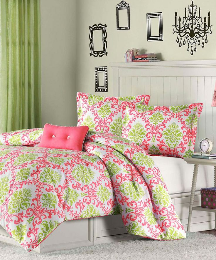25 best ideas about hot pink bedding on pinterest hot for Lime green bedroom furniture