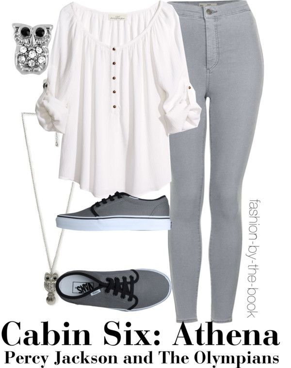 Outfit inspired by Cabin Six: Athena at Camp Half-Blood in Rick Riordan's Percy Jackson & the Olympians series