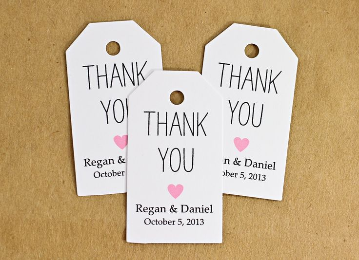 Favor Tags Wedding Tag Bridal Shower Gift Thank You Kraft
