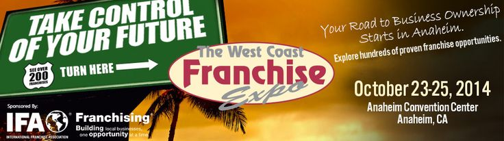 Free Tickets West Coast Franchise Expo in Anaheim, CA Meet with hundreds of the most exciting franchises available at the Anaheim Convention Center in Anaheim, CA on October 23-25. This is the largest franchise expo in the West Coast, featuring hundreds of brands in every industry and investment level. Attend 40+ free seminars and educational …