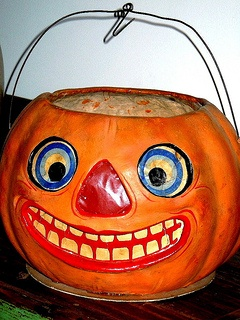 huge grinning 1920 vintage german halloween german store display jol - German Halloween Decorations
