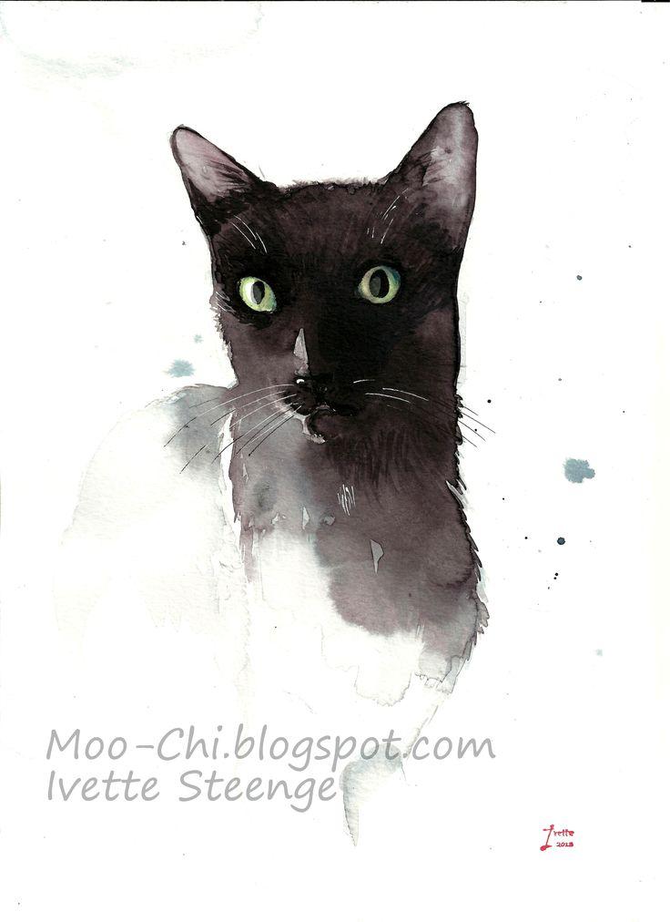 Moo-Chi, watercolour