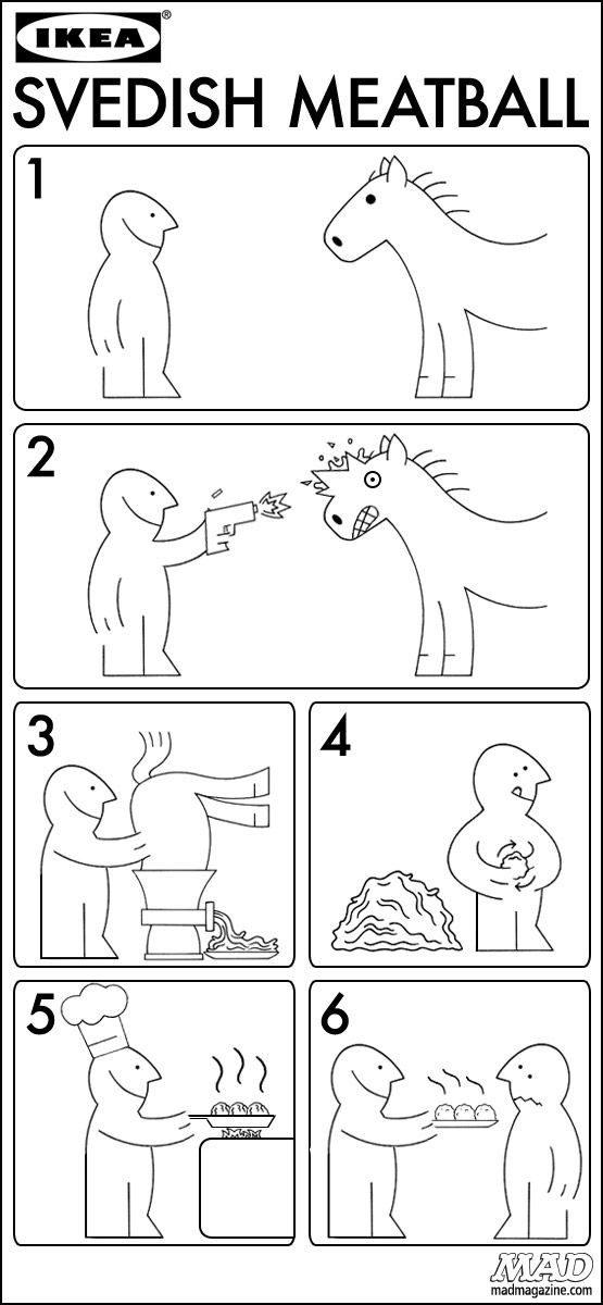 Ikea Swedish Horse-Meatball Instructions