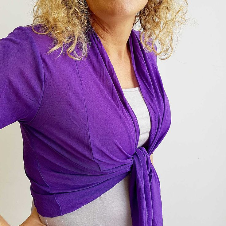 The Chicago Cardi in purple